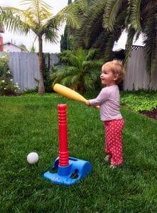 Child Playing Baseball