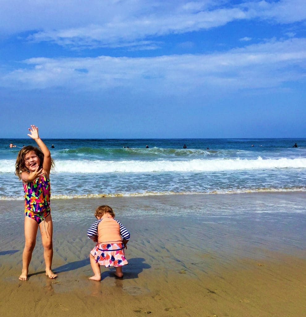 Two Kids Playing at the beach