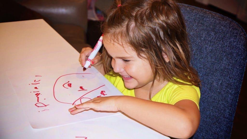 kids practice writing