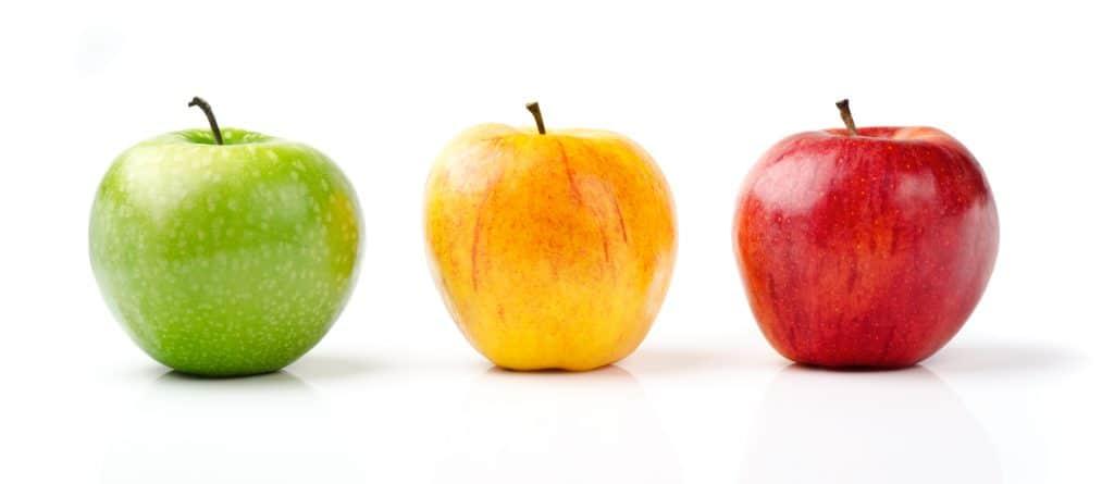 Discuss diversity using apples